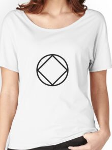 Symbol Black Women's Relaxed Fit T-Shirt