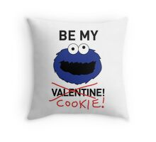 COOKIE MONSTER VALENTINE'S CARD Throw Pillow