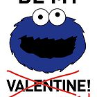 COOKIE MONSTER VALENTINE'S CARD by mjfouldes