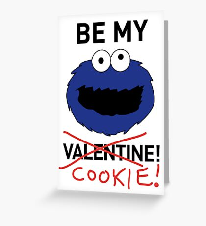 COOKIE MONSTER VALENTINE'S CARD Greeting Card