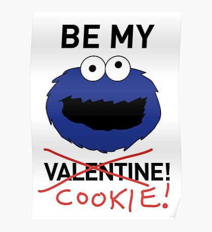 COOKIE MONSTER VALENTINE'S CARD Poster