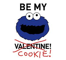 COOKIE MONSTER VALENTINE'S CARD Photographic Print