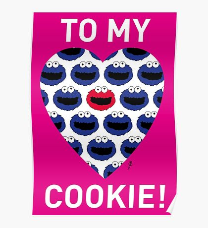 COOKIE MONSTER VALENTINE'S CARD 3 Poster