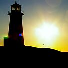 A Famous Canadian Light House....At Peggy's Cove by Larry Llewellyn
