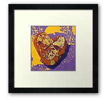 Kintsugi Golden Heart Framed Print