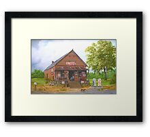 Lost Mountain Store, Cobb Co. Georgia Framed Print