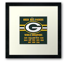 Green Bay Titles Framed Print