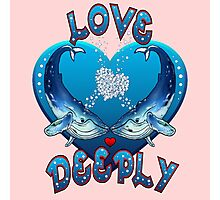 Love Deeply (with pink background) Photographic Print