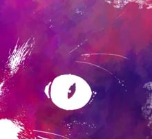 Purple cat Sticker