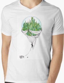 Emerald City Mens V-Neck T-Shirt