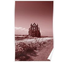 Whitby Abbey - Vintage Look Poster