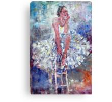 Ballet Dancer on the Stool Canvas Print