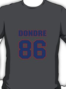 National football player Dondre Gilliam jersey 86 T-Shirt