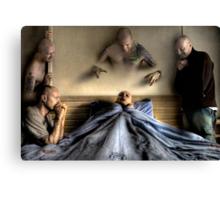 Deathbed Acquaintances Canvas Print