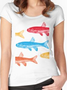Colourful Fish Women's Fitted Scoop T-Shirt