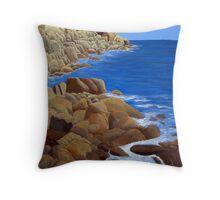 Bass Harbor Head Lighthouse Throw Pillow