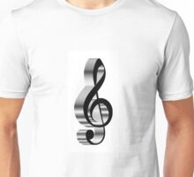 grey  clef  Unisex T-Shirt