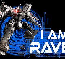 I am Raven (White Text) by DragonL0rd132