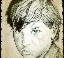 Ralph Macchio drawing by RobCrandall