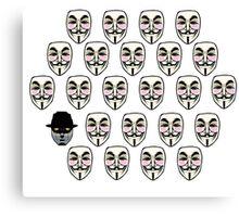 Q For Vendetta Canvas Print