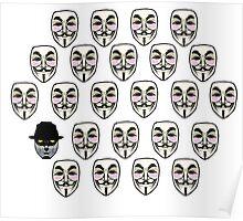 Q For Vendetta Poster
