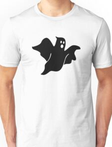 Black scary ghost Unisex T-Shirt