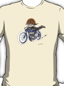 MOTORCYCLE EXCELSIOR STYLE (BLUE BIKE) T-Shirt