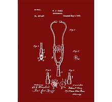 Medical - Heart - 1882 Ford Stethoscope Patent Photographic Print