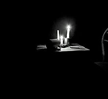 One Of The Three Candles Burned Out, And Darkness Eagerly Pulled It's Chair A little Closer To The Table...Dean Koontz by trueblvr