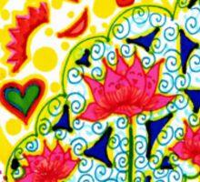 Three Happy Flowers Sticker