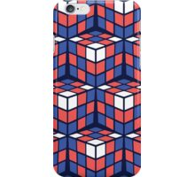 cascade - red/white/blue iPhone Case/Skin