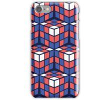 cascade - red/white/blue iPhone Case/Skin