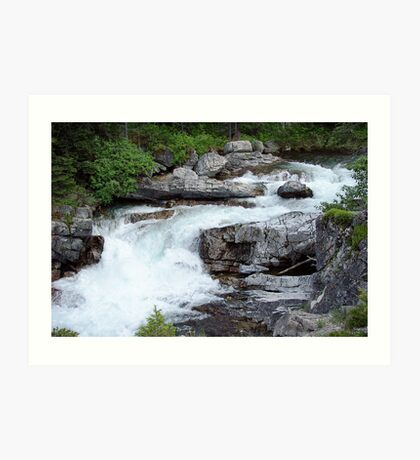 Glacial Waterfall Art Print