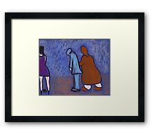 The naughty husband Framed Print