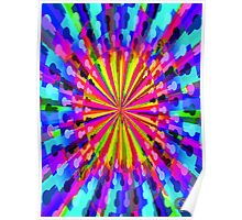 Pipe Dream #1 by CAP - Colorful Moving Optical Illusion Psychedelic Design Poster