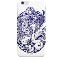 Lady Fox and Lilies iPhone Case/Skin