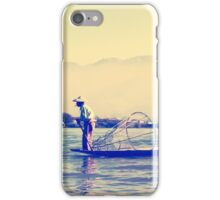 Burmese Fisherman iPhone Case/Skin