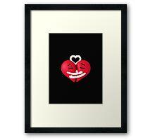 Hearts in love Framed Print