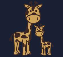 Comic Giraffe family One Piece - Long Sleeve