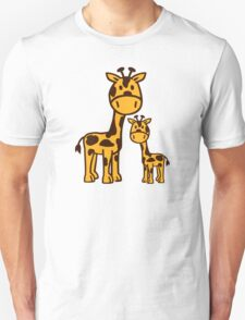 Comic Giraffe family Unisex T-Shirt