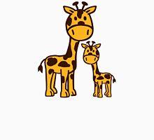 Comic Giraffe family Womens Fitted T-Shirt