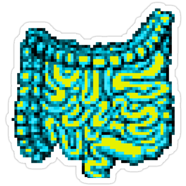 8-bit Intestines by tastypaper