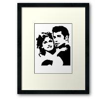John Travolta Grease Framed Print