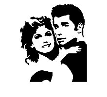 John Travolta Grease Photographic Print