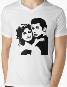 John Travolta Grease Mens V-Neck T-Shirt