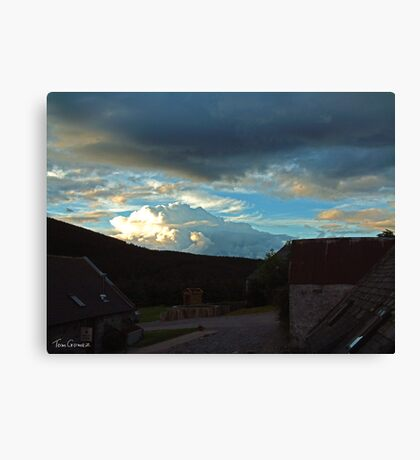 Storm clouds gathering over Speyside Canvas Print