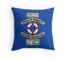 Lost But Happy At Sea Throw Pillow