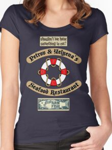 Lost But Happy At Sea Women's Fitted Scoop T-Shirt
