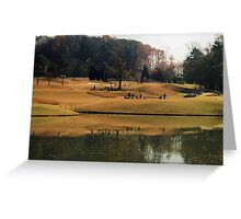 golf in the fall Greeting Card