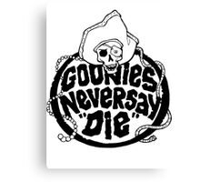 Goonies Never Say Die T-Shirt Canvas Print